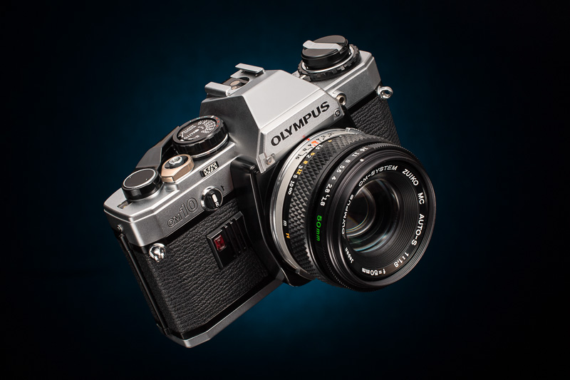 Olympus OM10, product photography